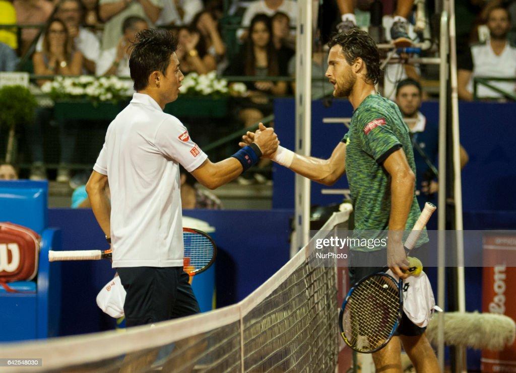Kei Nishikori v Joao Sousa - Argentina Open ATP : News Photo