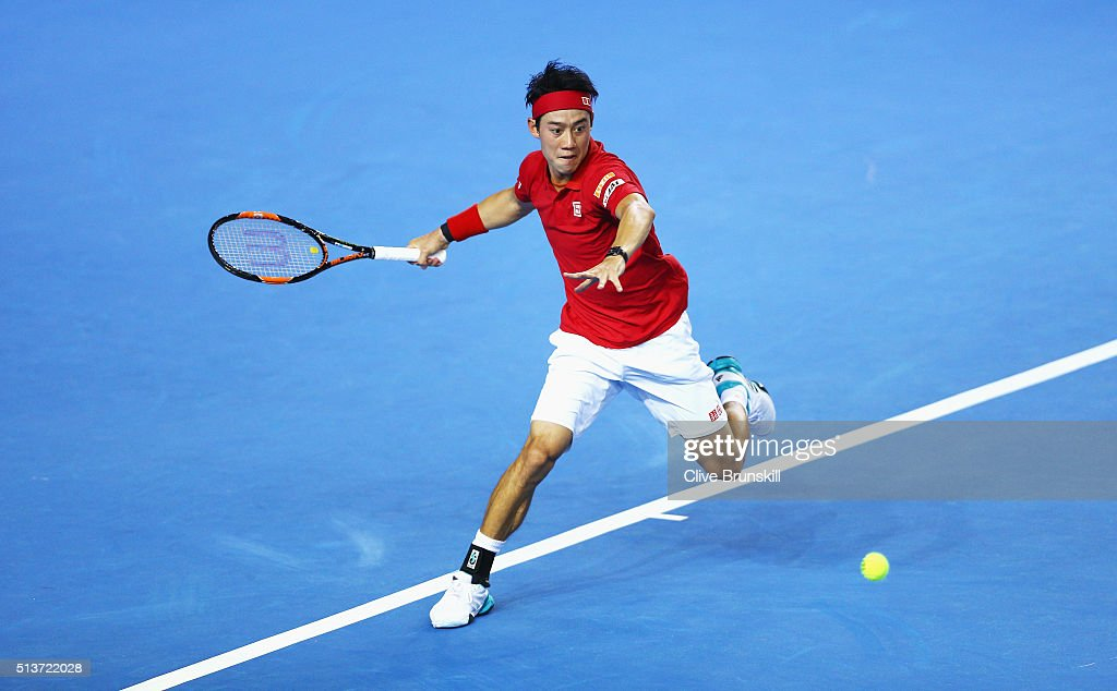 Great Britain v Japan - Davis Cup: Day One : News Photo