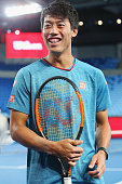 melbourne australia kei nishikori japan reacts