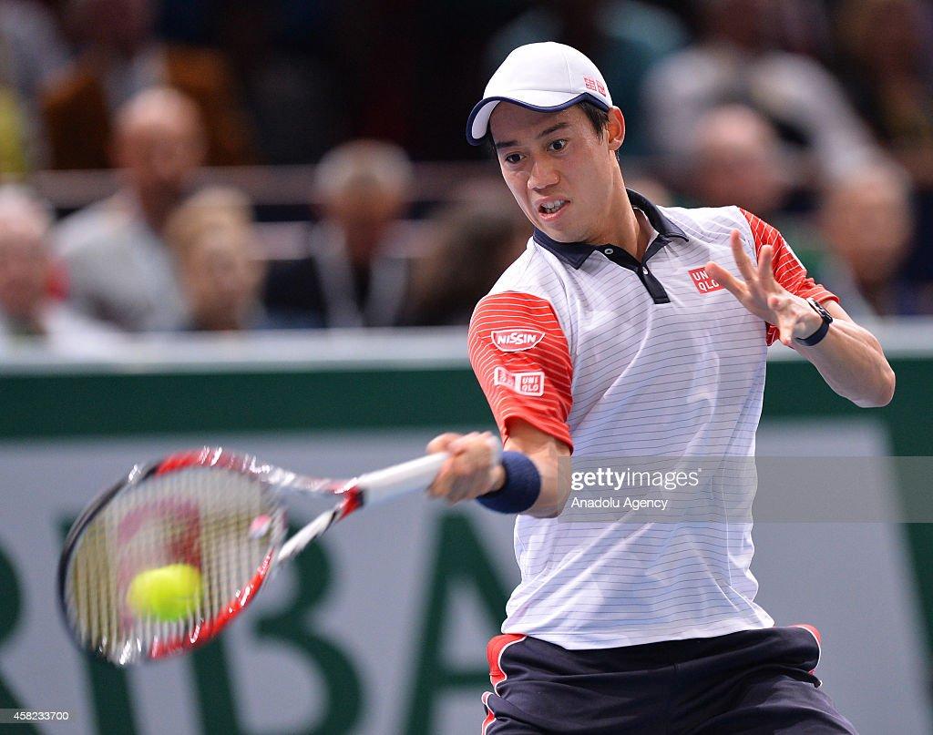 BNP Paribas Masters - Novak Djokovic v Kei Nishikori : ニュース写真