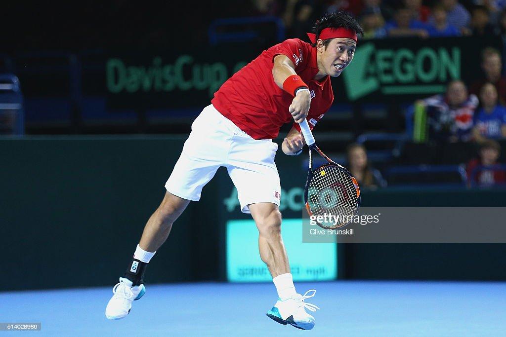 Great Britain v Japan - Davis Cup: Day Three : News Photo