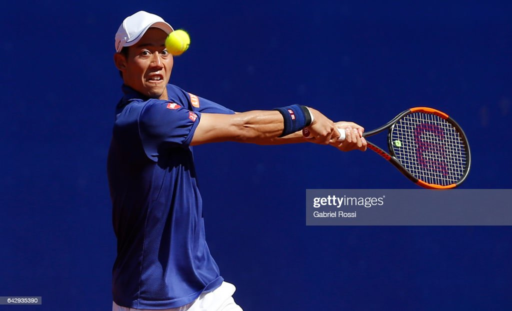 Kei Nishikori v Alexandr Dolgopolov - ATP Argentina Open : News Photo