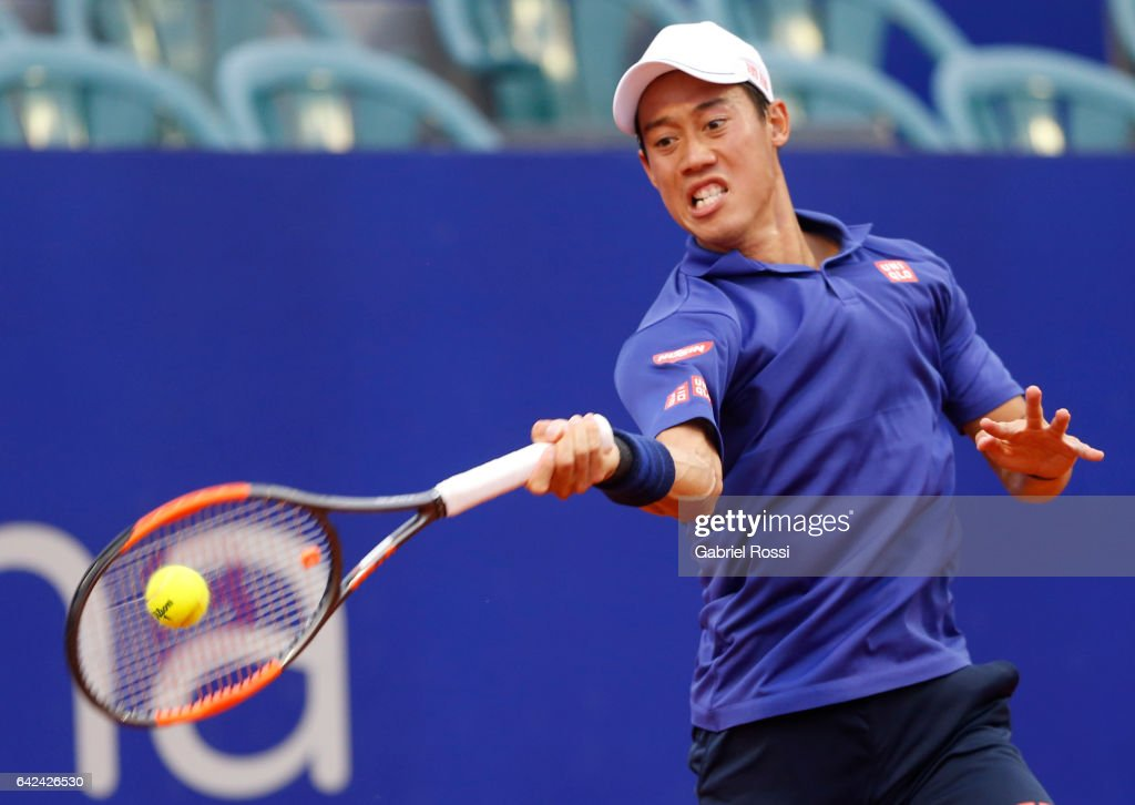 Kei Nishikori v Joao Sousa - ATP Argentina Open Day 5 : News Photo