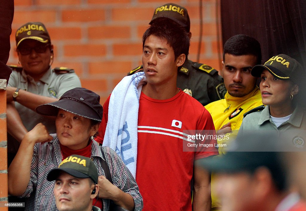 Colombia v Japan - Davis Cup World Group Play-Off - Day 3 : News Photo
