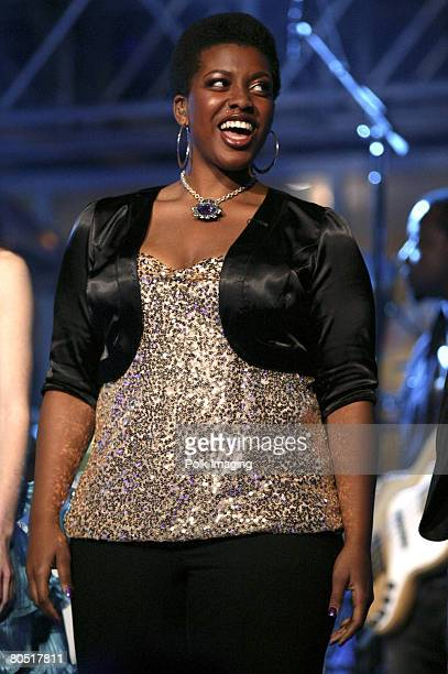 STUDIO CITY CA APRIL 03 A'Keiba Burrell daughter of MC Hammer during the live taping of the premiere episode of Rock the Cradle on April 3 2008 at...