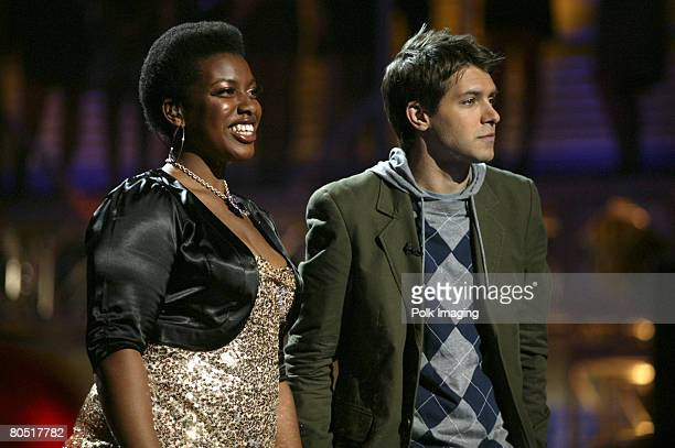 STUDIO CITY CA APRIL 03 A'Keiba Burrell daughter of rapper MC Hamme and host Ryan Devlin during the live taping of the premiere episode of Rock the...