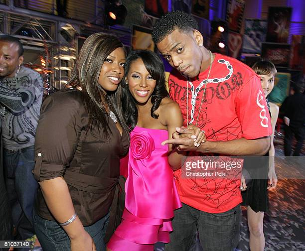 STUDIO CITY CA MAY 08 A'Keiba Burrell June Ambrose and Lil B Sure during the live taping of the finale of Rock the Cradle on May 8 2008 at CBS Studio...
