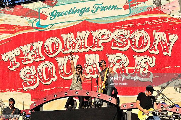 Keifer and Shawna Thompson of Thompson Square perform at the 2013 Stagecoach Country Music Festival at The Empire Polo Club on April 28 2013 in Indio...