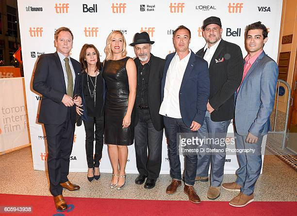 Keifer Sutherland Camelia Gath Michelle Gath Sinclair Danny Seraphine Jordan Levy Tony Papa and Micah Levin attend the 'Terry Gath Experience'...