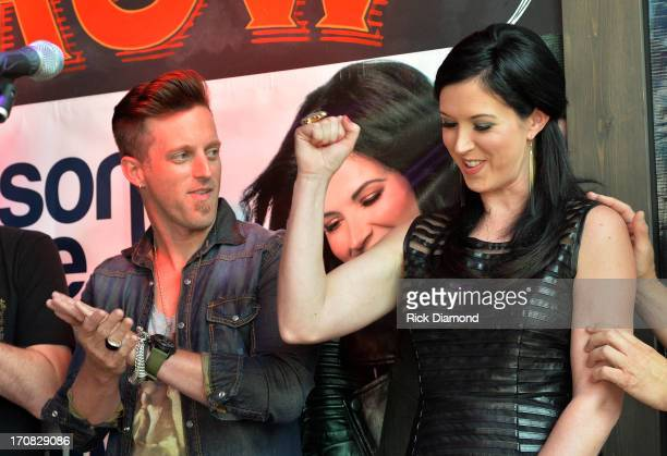 Keifer Thompson and Shawna Thompson at the Thompson Square Party For If I Didn't Have You at The Row on June 18 2013 in Nashville Tennessee