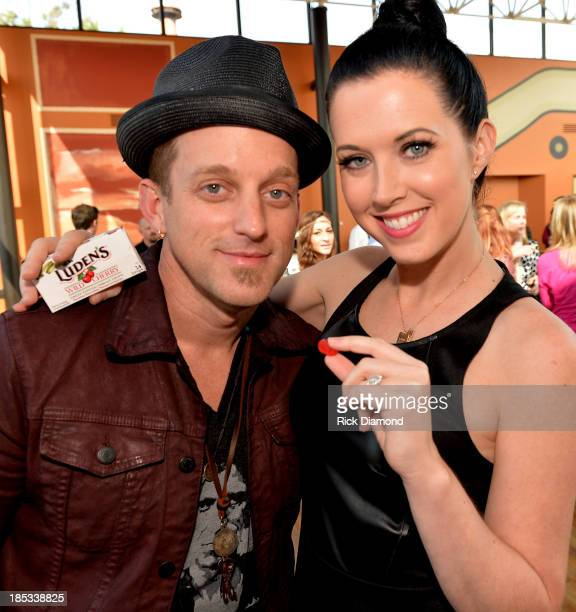 Keifer Thompson and Shawna Thompson who are Thompson Square attend the Luden's and Thompson Square Make Sweet Music Together to Celebrate Voices...