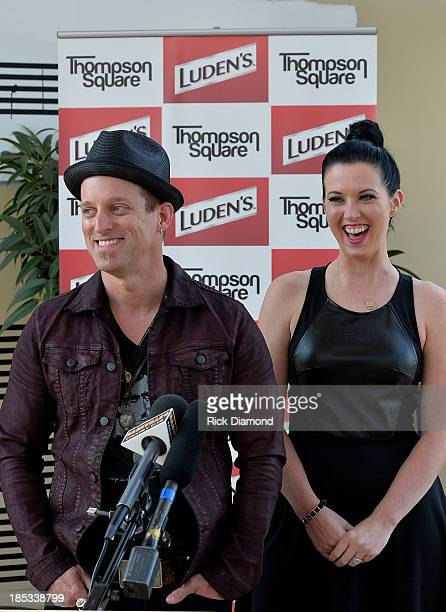 Keifer Thompson and Shawna Thompson who are Thompson Square doing a press event to announce the Luden's and Thompson Square Make Sweet Music Together...