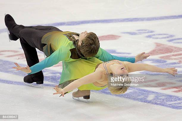 Keiffer and Madison Hubbell compete in the Championship Free Dance during the AT&T US Figure Skating Championships at Quicken Loans Arena January 24,...