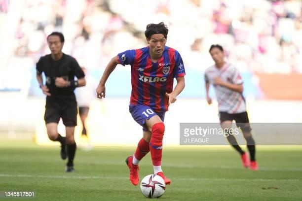 Keigo HIGASHI of FC Tokyo in action during the J.League Levain Cup Semi Final second leg match between FC Tokyo and Nagoya Grampus at Ajinomoto...