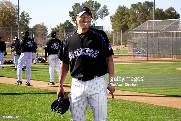 Keiichi Yabu of Colorado Rockies is seen during the spring training camp on February 24 2006 in Tucson Arizona