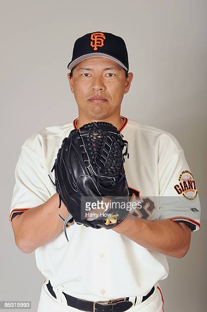 Keiichi Yabu of the San Francisco Giants poses during photo day at Scottsdale Stadium on February 23 2009 in Scottsdale Arizona