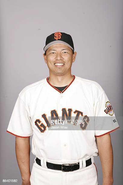 Keiichi Yabu of the San Francisco Giants poses during Photo Day on Monday February 23 2009 at Scottsdale Stadium in Scottsdale Arizona