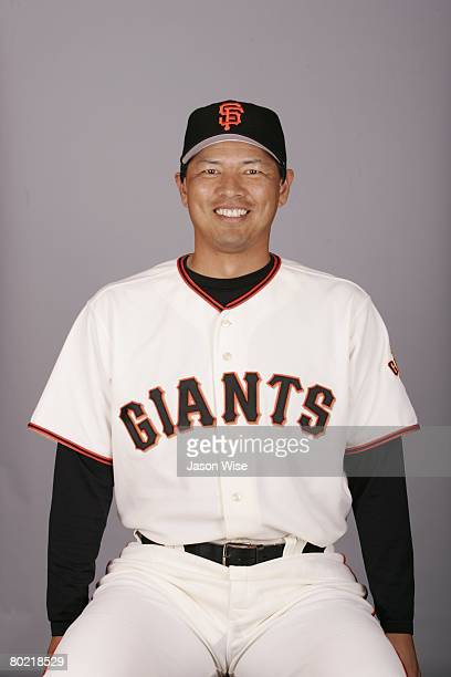 Keiichi Yabu of the San Francisco Giants poses for a portrait during photo day at Scottsdale Stadium on February 27 2008 in Scottsdale Arizona