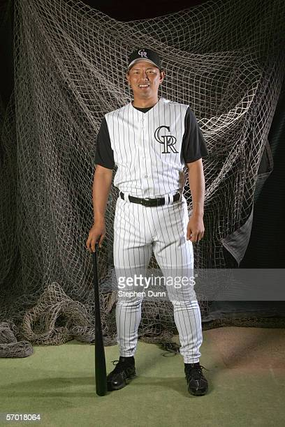 Keiichi Yabu poses during Colorado Rockies photo day on February 25 2006 at Hi Corbett Parkin Tucson Arizona