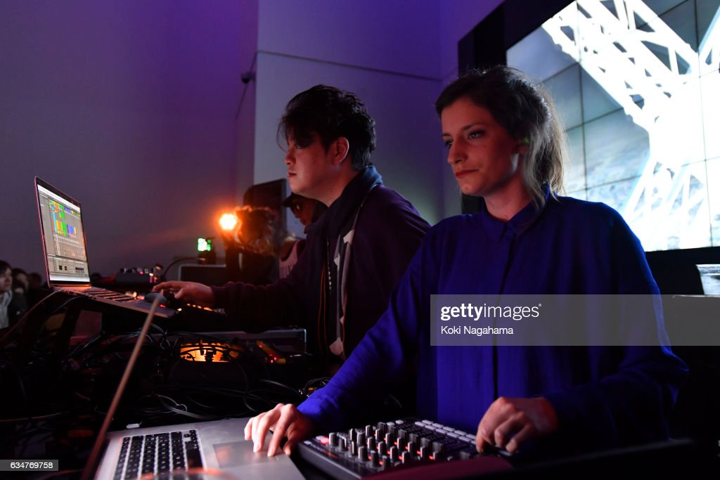 Keiichiro Shibuya and Justine Emard perferm during Special Session at Roppongi Hills MAT LAB Mori Tower 52F, TOKYO CITY VIEW on February 11, 2017 in Tokyo, Japan. Keiichiro Shibuya confirmed his appearance at the last minute. Together with David Letellier who has released several pieces from Raster-Noton as Kangding Ray and Taeji Sawai (a.k.a. portable[k]ommunity), he will give his electric performance.You will also be electrified with the video created by the video artist Justine Emard who has done a lot of collaboration in Shibuya and Paris. And ZAK will be you PA just for this performance. You can witness this special session only in this event. *This project is a part of the survey on the basic policy of 2020 Olympic/Paralympic Game as per the consignment by Secretariat of the Headquarters for Tokyo 2020 Olympic and Paralympic Games.