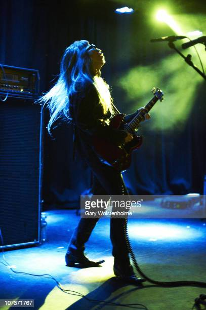 Keiji Haino performs on stage during the final day of ATP Nightmare Before Christmas at Butlins Holiday Centre on December 5 2010 in Minehead England