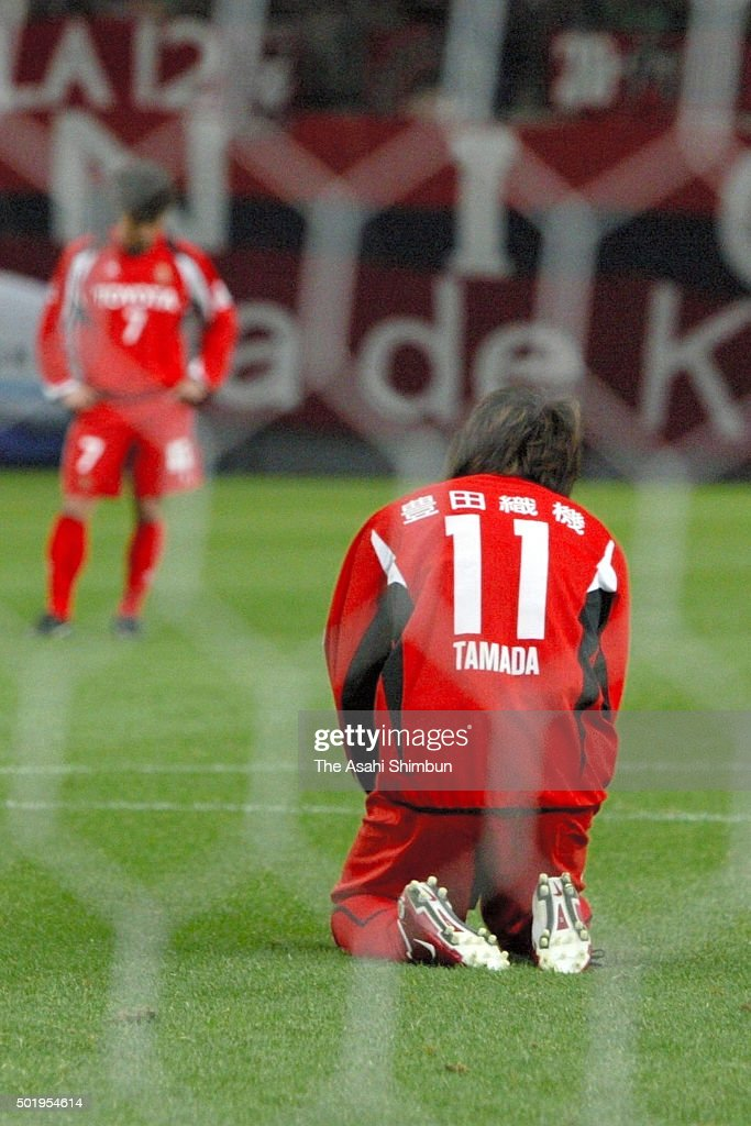 Keiji Tamada of Nagoya Grampus Eight reacts after his penalty is stopped during the J.League match between Nagoya Grampus Eight and Kashima Antlers at Toyota Stadium on March 18, 2006 in Toyota, Aichi, Japan.