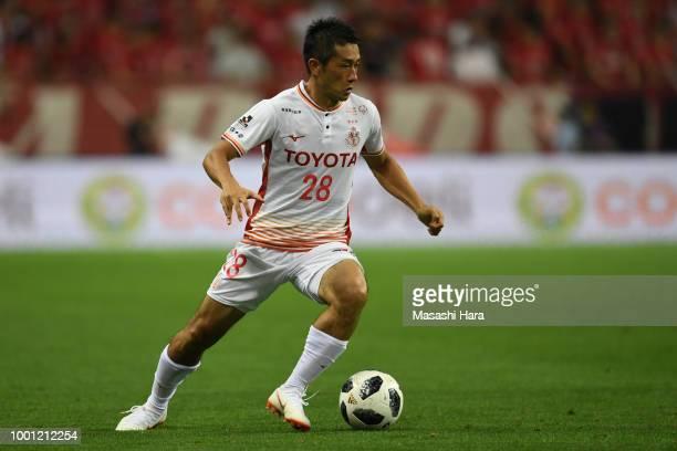 Keiji Tamada of Nagoya Grampus in action during the JLeague J1 match between Urawa Red Diamonds and Nagoya Grampus at Saitama Stadium on July 18 2018...