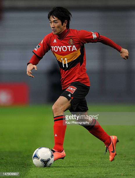 Keiji Tamada of Nagoya Grampus in action during the JLeague match between Nagoya Grampus and Consadole Sapporo at Toyota Stadium on April 14 2012 in...