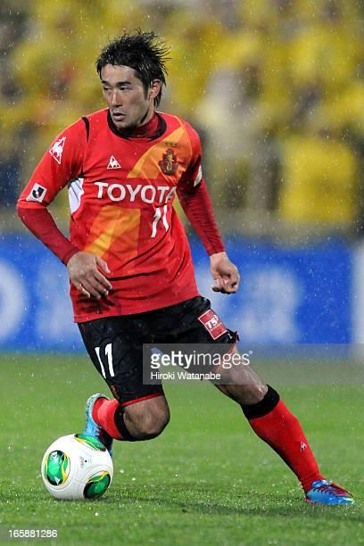 Keiji Tamada of Nagoya Grampus in action during the JLeague match between Kashiwa Reysol and Nagoya Grampus at Hitachi Kashiwa Soccer Stadium on...