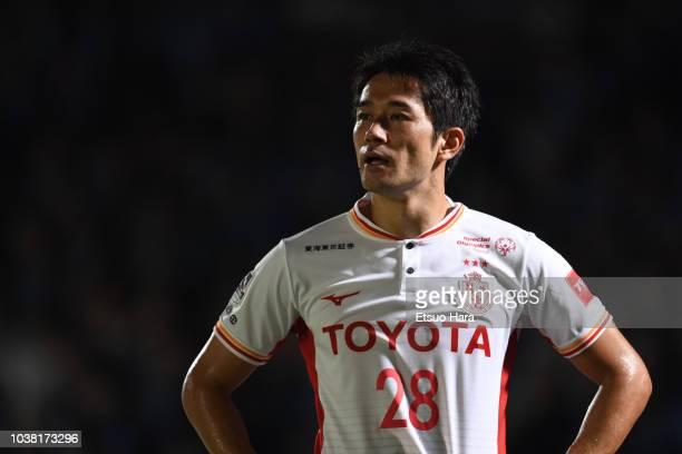 Keiji Tamada of Nagoya Grampus looks on during the J.League J1 match between Kawasaki Frontale and Nagoya Grampus at Todoroki Stadium on September...