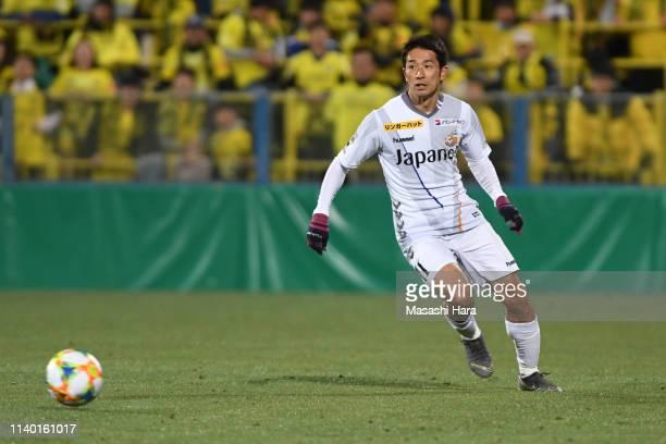Keiji Tamada of V-Varen Nagasaki in action during the J.League J2 match between Kashiwa Reysol and V-Varen Nagasaki at Sankyo Frontier Kashiwa...
