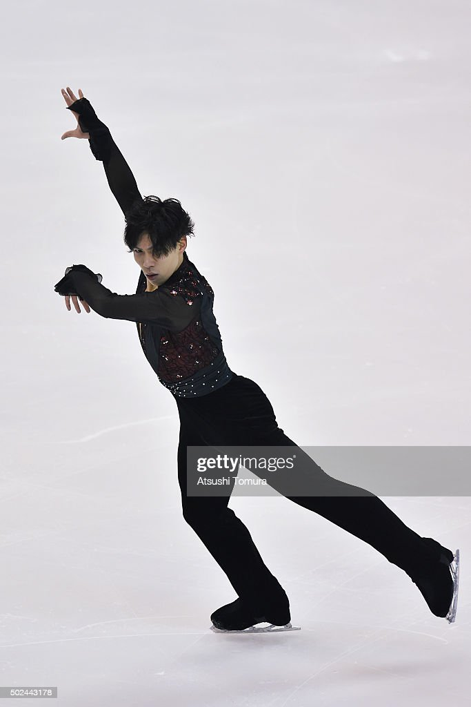 Keiji Tanaka of Japan competes in the Men short program during the day one of the 2015 Japan Figure Skating Championships at the Makomanai Ice Arena on December 25, 2015 in Sapporo, Japan.