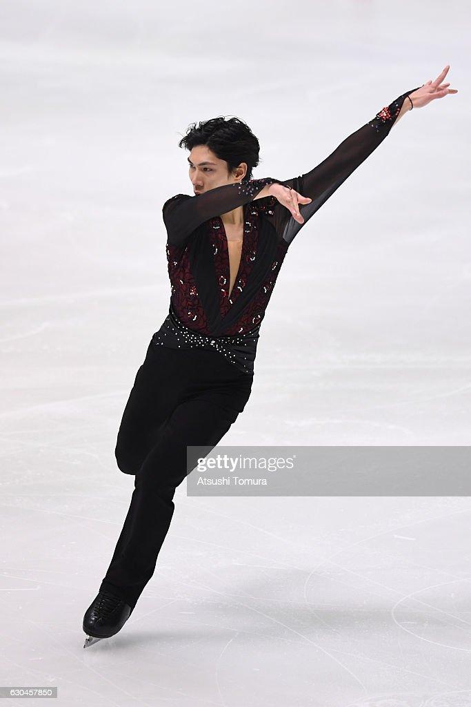 Keiji Tanaka of Japan competes in the Men short program during the Japan Figure Skating Championships 2016 on December 23, 2016 in Kadoma, Japan.