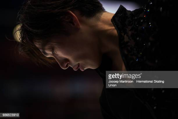 Keiji Tanaka of Japan competes in the Men's Short Program during day two of the World Figure Skating Championships at Mediolanum Forum on March 22,...