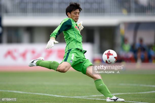 Keiki Shimizu of Thespa Kusatsu Gunma in action during the JLeague J2 match between Thespa Kusatsu Gunma and FC Gifu at Shoda Shoyu Stadium on May 3...