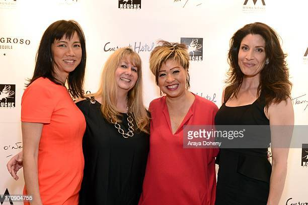 Keiko Noah Marcy Kraft Rosalina Lydster and Julie Candice attend a gallery exhibit of Terry O'Neill Presents The Opus A 50 Year Retrospective at...