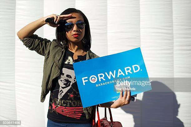 Keiko Thompson a Hofstra University Junior from Queens NY poses for a portrait in advance of the second Presidential Debate between Barack Obama and...
