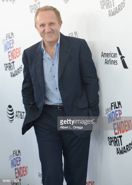 Keing CEO and Chairman FrancoisHenri Pinault arrives for the 2018 Film Independent Spirit Awards on March 3 2018 in Santa Monica California