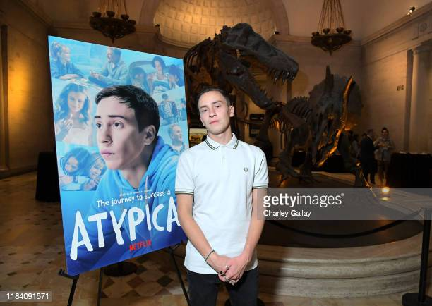 """Keir Gilchrist attends Netflix """"Atypical"""" Season 3 special screening at Natural History Museum on October 28, 2019 in Los Angeles, California."""