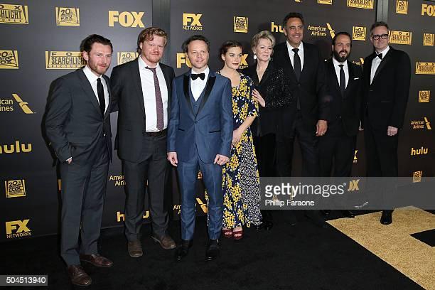 Keir O'Donnell, Jesse Plemons, Noah Hawley, Rachel Keller, Jean Smart, Brad Garrett, Angus Sampson, and John Cameron attend Fox And FX's 2016 Golden...