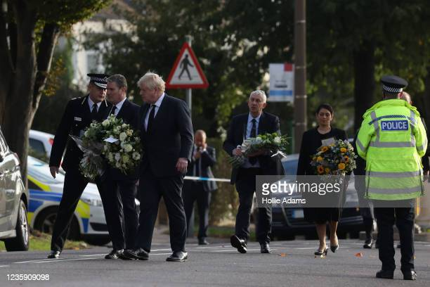 Keir Starmer, leader of the Labour Party, Boris Johnson, Prime Minister, Sir Lindsay Hoyle, Speaker of the House of Commons, and Priti Patel, Home...