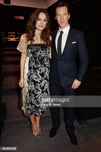 Keira Knightley and Benedict Cumberbatch attend an Oscar members screening of The Imitation Game at Twentieth Century Fox House on February 5 2015 in...