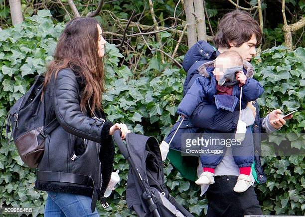 Keira Knightley and James Righton are seen enjoying a day out in Hampstead Heath on February 09 2016 in London England