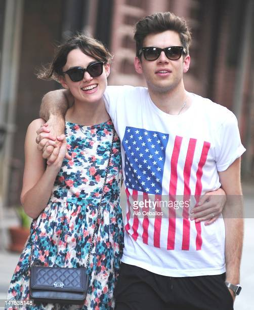 Keira Knightley and James Righton are seen in Soho on July 1 2012 in New York City