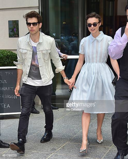 Keira Knightley and James Righton are seen in Soho on June 26 2014 in New York City