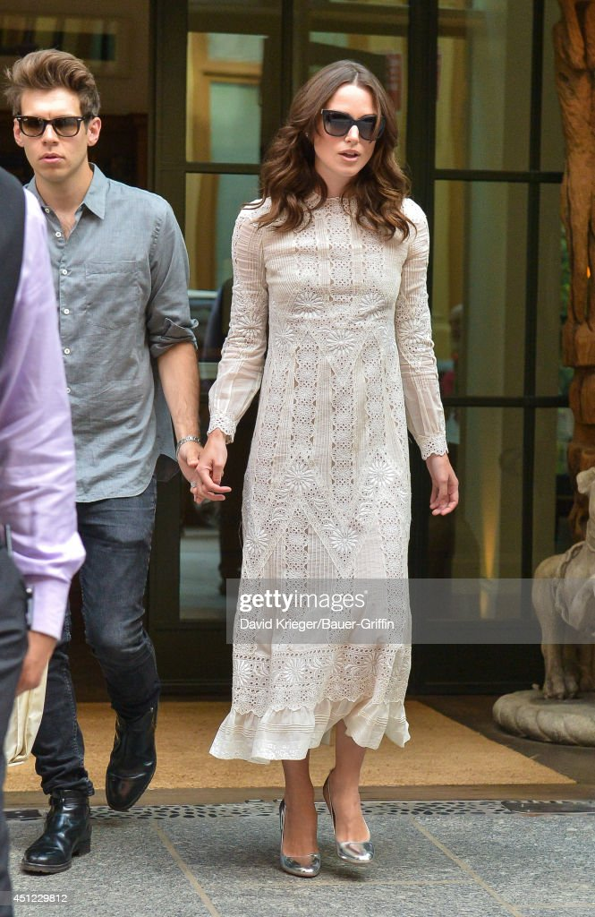Keira Knightley and James Righton are seen June 25, 2014 in New York City.