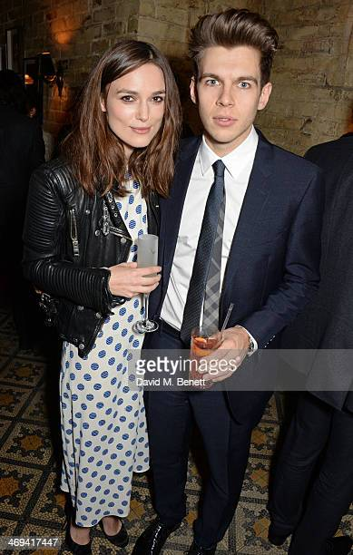 Keira Knightley and James Righton attend Harvey Weinstein's preBAFTA dinner in partnership with Burberry and Grey Goose at Little House Mayfair on...