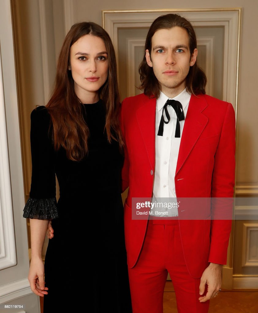 Keira Knightley and James Righton attend he mothers2mothers Winter Fundraiser, hosted by Salma Hayek Pinault and Francois-Henri Pinault. The dinner is in support of mothers2mothers' work to create a generation free from HIV.