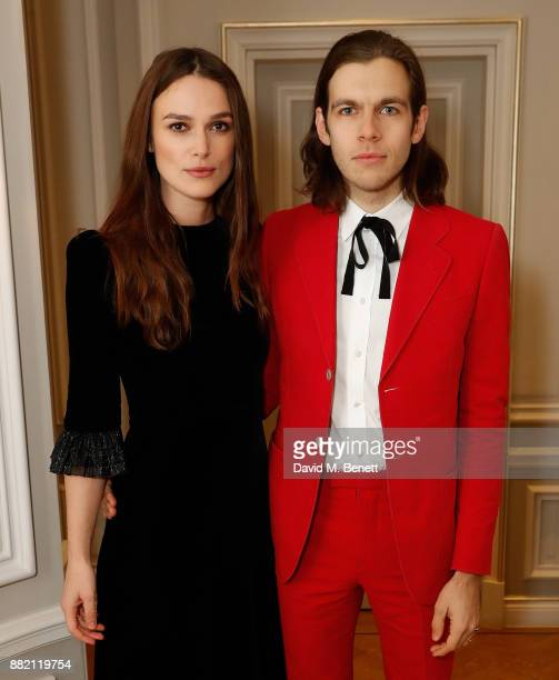 Keira Knightley and James Righton attend he mothers2mothers Winter Fundraiser hosted by Salma Hayek Pinault and FrancoisHenri Pinault The dinner is...
