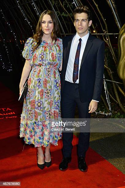 Keira Knightley and James Righton attend the EE British Academy Awards nominees party at Kensington Palace on February 7 2015 in London England